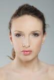 όμορφο μαύρισμα portarit κοριτσι Στοκ Εικόνες