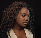 όμορφο μαύρο πορτρέτο αφρο στοκ εικόνα