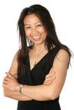 όμορφο μαύρο φόρεμα θηλυκός επίσημος ώριμος Ταϊλανδός Στοκ εικόνες με δικαίωμα ελεύθερης χρήσης