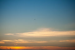 Όμορφο μεγαλοπρεπές ηλιοβασίλεμα Στοκ εικόνα με δικαίωμα ελεύθερης χρήσης