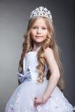 Όμορφο μικρό κορίτσι στην τιάρα στοκ εικόνα με δικαίωμα ελεύθερης χρήσης
