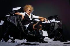 όμορφο μοντέλο μόδας προκ&l στοκ εικόνες