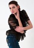 όμορφο μοντέλο μόδας Στοκ Φωτογραφίες