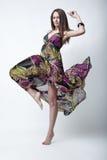 όμορφο μοντέλο μόδας Στοκ Εικόνες