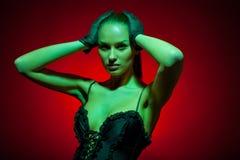 όμορφο μοντέλο μόδας Στοκ Εικόνα