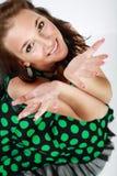 όμορφο μοντέλο brunette στοκ εικόνα
