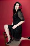 όμορφο μοντέλο brunette Στοκ εικόνα με δικαίωμα ελεύθερης χρήσης