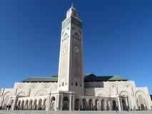 Όμορφο μουσουλμανικό τέμενος Χασάν ΙΙ ένα αρχιτεκτονικό αριστούργημα που αντιμετωπίζει το φως του ήλιου στοκ εικόνες