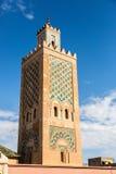 Όμορφο μουσουλμανικό τέμενος στο Μαρακές κεντρικός, Μαρόκο Στοκ Φωτογραφία