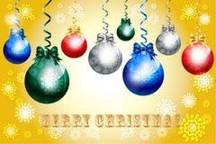 Όμορφο μπιχλιμπίδι διακοσμήσεων Χριστουγέννων - διανυσματικό eps10 διανυσματική απεικόνιση
