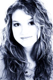 όμορφο μπλε παλαιό πορτρέτ&o στοκ εικόνες με δικαίωμα ελεύθερης χρήσης