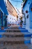 Όμορφο μπλε medina της πόλης Chefchaouen στο Μαρόκο, Αφρική Στοκ φωτογραφία με δικαίωμα ελεύθερης χρήσης