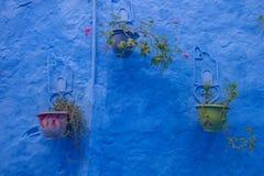 Όμορφο μπλε medina της πόλης Chefchaouen στο Μαρόκο, Αφρική Στοκ Εικόνες