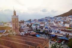 Όμορφο μπλε medina της πόλης Chefchaouen στο Μαρόκο, Αφρική Στοκ Φωτογραφίες