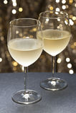 όμορφο μπροστινό άσπρο κρασί ανασκόπησης Στοκ Εικόνες
