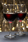 όμορφο μπροστινό κόκκινο κρασί ανασκόπησης Στοκ φωτογραφία με δικαίωμα ελεύθερης χρήσης