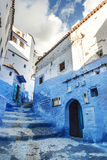 Όμορφο μπλε medina Chefchaouen στο Μαρόκο Στοκ Φωτογραφίες