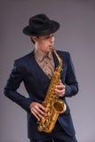 Όμορφο νέο άτομο τζαζ Στοκ φωτογραφία με δικαίωμα ελεύθερης χρήσης