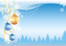 όμορφο νέο έτος Χριστουγέ&nu Στοκ φωτογραφία με δικαίωμα ελεύθερης χρήσης