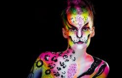 Όμορφο νέο θηλυκό με το πλήρες χρώμα σωμάτων Στοκ Φωτογραφίες