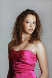 Όμορφο νέο κορίτσι στο φόρεμα prom Στοκ Εικόνα