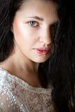 Όμορφο νέο κορίτσι χωρίς σύνθεση Στοκ Εικόνα