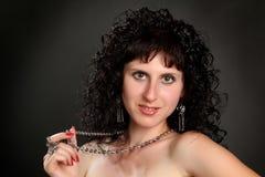 Όμορφο νέο πορτρέτο brunette Στοκ Εικόνες