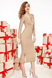 Όμορφο νέο προκλητικό μοντέρνο μοντέρνο παλτό βραδιού αριθμού γυναικών λεπτό λεπτό makeup, συλλογή ιματισμού, brunette, κιβώτια δ Στοκ Εικόνα