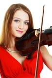 Κορίτσι βιολιστών Στοκ εικόνα με δικαίωμα ελεύθερης χρήσης