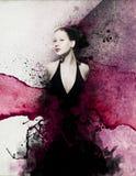 Όμορφο νέο σχέδιο γυναικών στοκ εικόνες