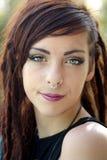 Όμορφο νέο Redhead υπαίθριο Headshot (1) Στοκ Εικόνες
