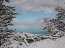 όμορφο να κάνει σκι τοπίων προορισμού χιόνι στοκ εικόνες με δικαίωμα ελεύθερης χρήσης