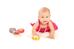 όμορφο να φανεί μωρών εξαρτημάτων μέρος Στοκ Φωτογραφία