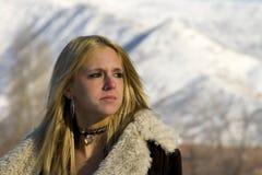 όμορφο ξανθό μοντέλο Στοκ Φωτογραφίες