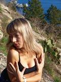 όμορφο ξανθό πορτρέτο κορι& Στοκ φωτογραφία με δικαίωμα ελεύθερης χρήσης