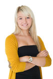 Όμορφο ξανθό χαμόγελο γυναικών Στοκ εικόνες με δικαίωμα ελεύθερης χρήσης