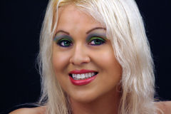όμορφο ξανθό headshot 2 Στοκ Εικόνες