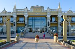 Όμορφο ξενοδοχείο στην περιοχή επιχειρήσεων και αγορών και ψυχαγωγίας του IL Mercato σε Hadaba, Sheikh Sharm EL, Αίγυπτος Στοκ Φωτογραφίες