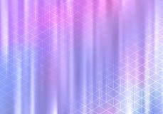 Όμορφο ολογραφικό BG με τις γεωμετρικές γραμμές Κομψό διανυσματικό έμβλημα απεικόνιση αποθεμάτων