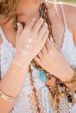 Όμορφο ορισμένο boho κορίτσι Στοκ εικόνες με δικαίωμα ελεύθερης χρήσης