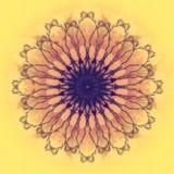 Όμορφο λουλούδι mandala Διακοσμητικό στρογγυλό floral αντικείμενο Στοκ Εικόνα