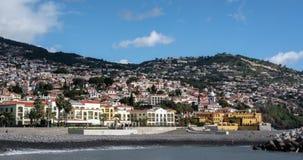 Όμορφο οχυρό Tiago Σάο timelapse, ξενοδοχείο Πόρτο Σάντα Μαρία, νησί του Φουνκάλ, Μαδέρα, Πορτογαλία απόθεμα βίντεο