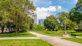 Όμορφο πάρκο επιχορήγησης στο Σικάγο - φωτογραφία οδών στοκ φωτογραφία με δικαίωμα ελεύθερης χρήσης