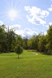 όμορφο πάρκο ημέρας ηλιόλο& Στοκ φωτογραφία με δικαίωμα ελεύθερης χρήσης