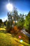 όμορφο πάρκο τοπίων Στοκ Εικόνες