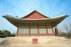 όμορφο παλάτι τοπίων της Κορέας ιστορίας kyongbok Στοκ φωτογραφία με δικαίωμα ελεύθερης χρήσης