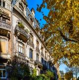 Όμορφο παλαιό ακριβό σπίτι στο κέντρο του Στρασβούργου, εικονική παράσταση πόλης, Γαλλία στοκ φωτογραφίες