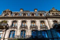 Όμορφο παλαιό ακριβό σπίτι στο κέντρο του Στρασβούργου, εικονική παράσταση πόλης, Γαλλία στοκ εικόνες