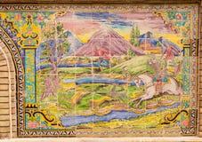 Όμορφο παλαιό διακοσμημένο μωσαϊκό ζωγραφικής στον τοίχο Golestan Στοκ εικόνες με δικαίωμα ελεύθερης χρήσης