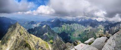 Όμορφο πανόραμα από Rysy σε Tatras Στοκ Φωτογραφίες